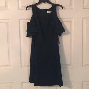 f6d7135c00c7fe Eliza J Dresses - Flutter Sleeve Cold Shoulder Fit   Flare Dress